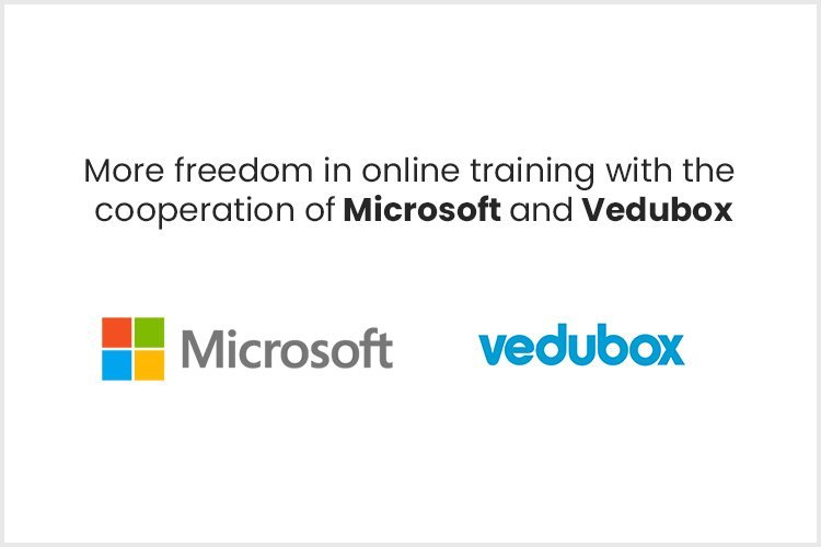 More freedom in online training with the  cooperation of Microsoft and Vedubox